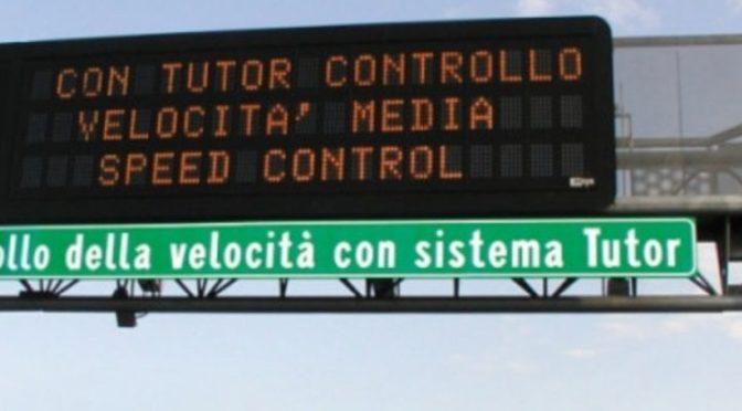 Riattivati i tutor nelle autostrade italiane